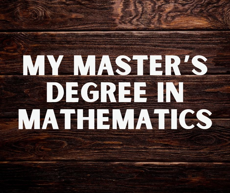 My MSc degree